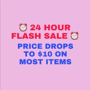 ⏰24 HR FLASH SALE⏰ $10 ON MOST ITEMS